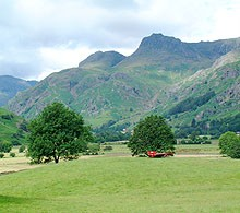 langdale Pikes from near Elterwater