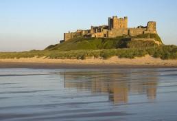 Northumberland Coast Path Veiws of Bamburgh Castle