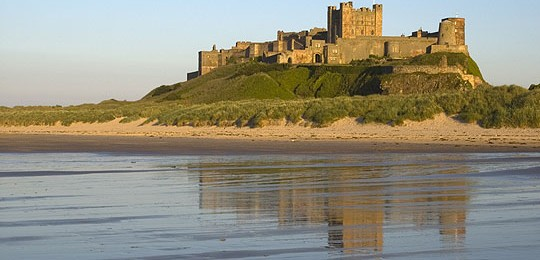 Northumberland Coast Path Veiws of Bamburgh Castle
