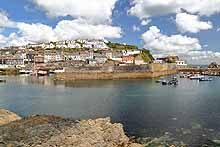 Mevagissy Harbour from the Cornish Coast Path