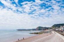 Sidmouth Esplanade on the South Devon Coast Path