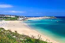St Ives, Cornwall, from the Coast Path