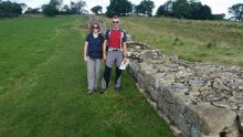 Sue and Mike on Hadrian's Wall