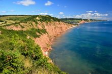 Sidmouth on the South Devon Coast Path