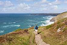 Walking on the Cornwall Coast Path
