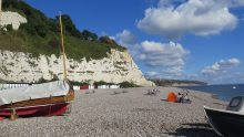 Beer Beach on the South Devon Coast Path