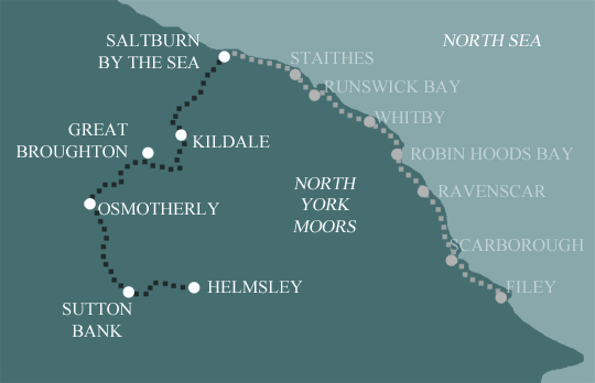 Clevleand Way Moors Map