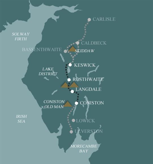 Cumbria Way Map - Best of teh Cumbria Way