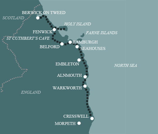 Northumberland Coast Map