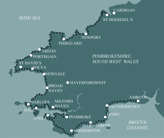 Pembrokeshire Coast Path Map