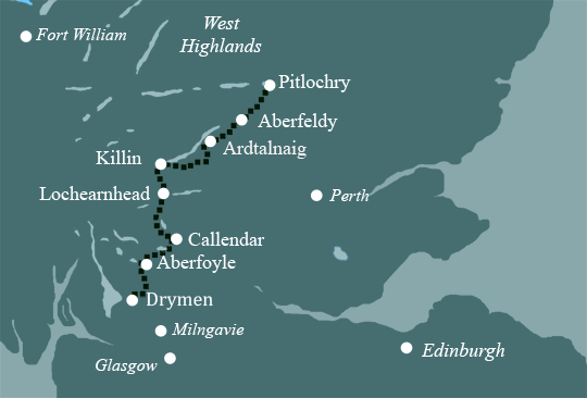 Rob Roy Way Map