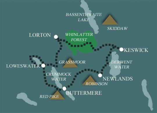 lake distirct walking holidays map